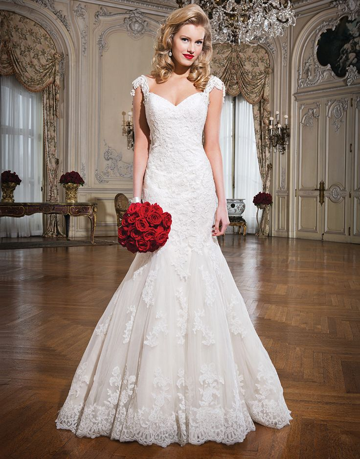 Wedding Gown Of The Week Justin Alexander Style 8758 Alencon Lace Fit And Flare Dress Emphasized By A Sweetheart Neckline