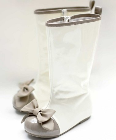 Take a look at this White Patent Faux Leather Boots - Infant, Toddler & Girls by Joyfolie on #zulily today!