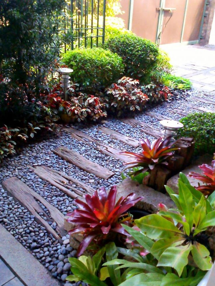 Enchanting Small Garden Landscape Ideas with Stepping Walk ... on Small Landscape Garden Ideas id=85146