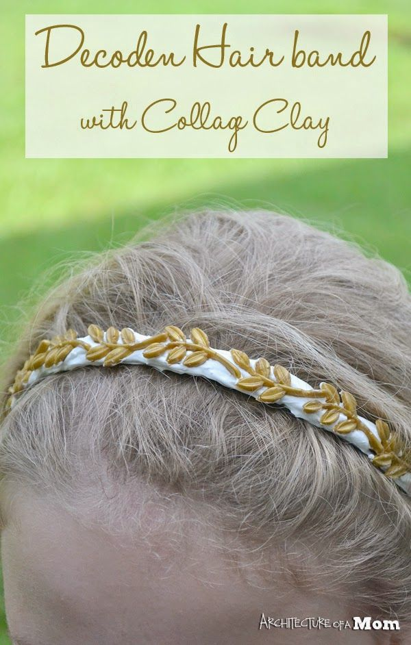 Architecture of a Mom: Elegant Gold Leaves Hairband #ad #plaidcrafts #modpodge