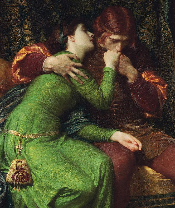 """Paolo and Francesca (Detail)"" (1894) by Sir Frank Dicksee                                                                                                                                                                                 More"