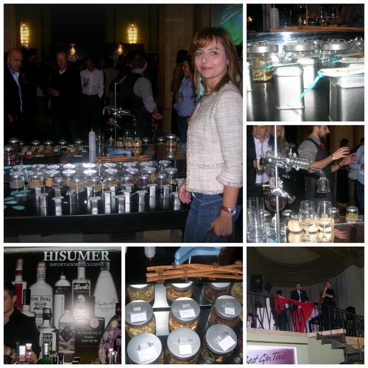 En el Gin Show Madrid, cata de gin-tonics !!!!