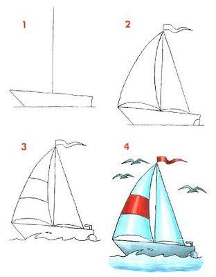 Dibujar medios de transportes marítimos ~ Rayito de Colores