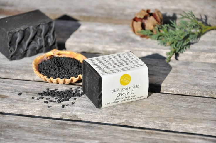 Facial soap with black clay and charcoal