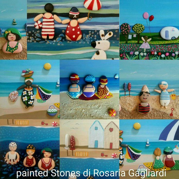 Vacanze al mare -Painted Stones di Rosaria Gagliardi