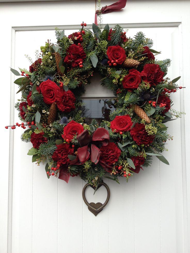 "Delicious ""Truly Sumptuous"" door wreath.  Fresh flowers."