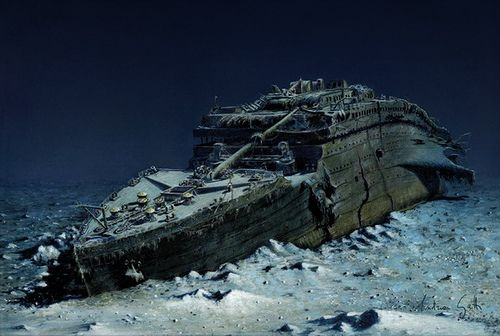 The Titanic as it is now.