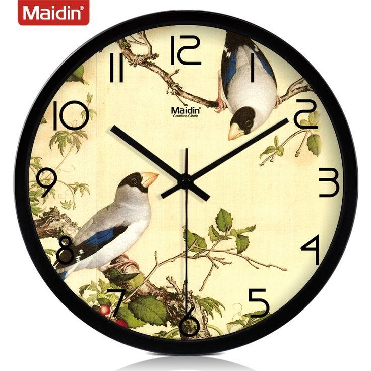 Maiding / отправка часы молчали гостиной настенные часы часы-радио творчески минималистский сад настенный плакат 495- Taobao