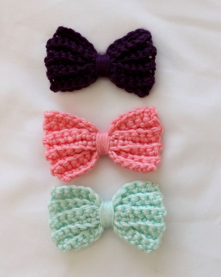 ideas about Crochet Hair Bows on Pinterest Hair Clips, Crochet Hair ...