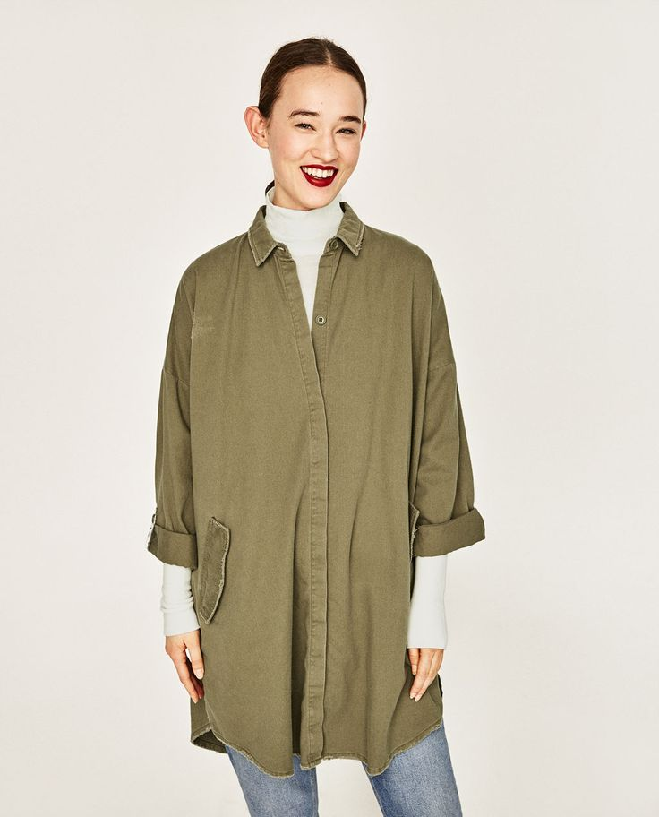 ZARA - COLLECTION SS/17 - OVERSIZED PAINTED OVERSHIRT