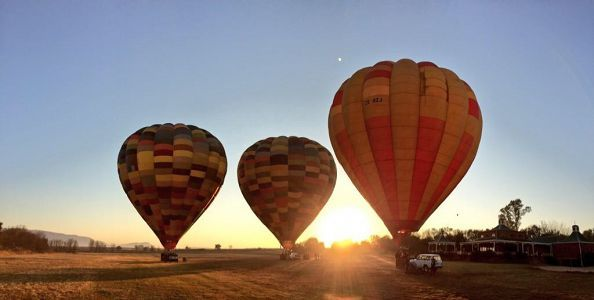 Bill Harrop's Original Balloon Safaris. Definitely one for the bucket-list - Breakfast and a hot-air ballooning safari experience in South Africa.