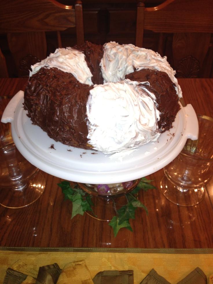 Ebony ivory bundt cake yummyyy cake desserts food