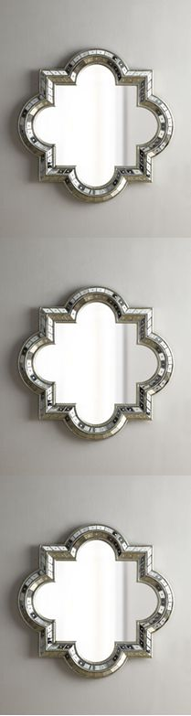 quatrefoil mirrors - looks great to get multiple mirrors and stack them
