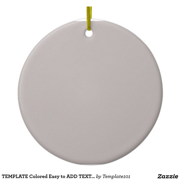 TEMPLATE Colored Easy to ADD TEXT and IMAGE Double-Sided Ceramic Round Christmas Ornament