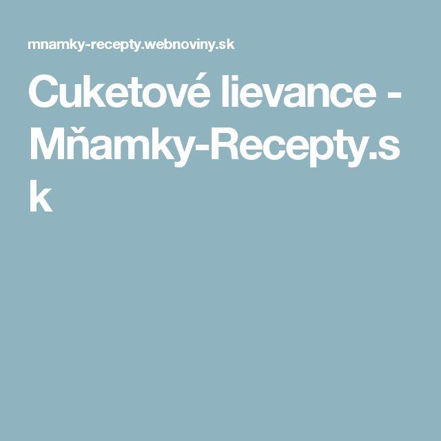 Cuketové lievance - Mňamky-Recepty.sk