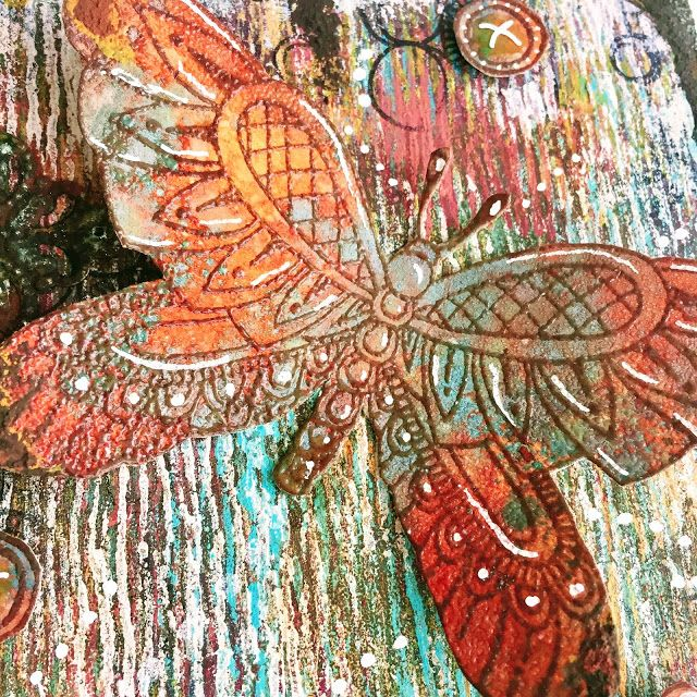 PaperArtsy: 2017 #16 Rust: Autumn Flutterby with ETS {Clare Messenger}