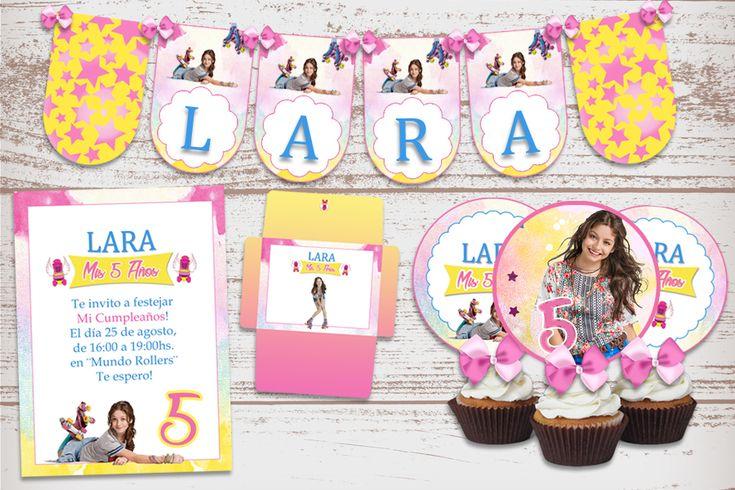 Kit Imprimible Soy Luna decoración cumpleaños de nena candy bar.