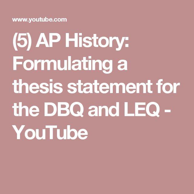 Formulating thesis statement