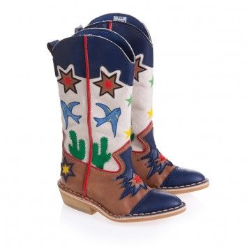 Adorable Boot Alert: Stella McCartney Kids Embroidered Eco-Leather Cowboy Boots | Child Mode