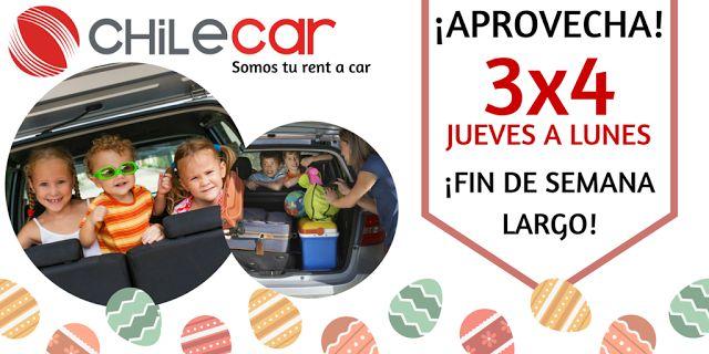 Chile Car, rent a car: OFERTAS FIN DE SEMANA LARGO