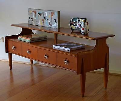 retro mid century atomic danish modern kauri timber sideboard / buffet, Burgess