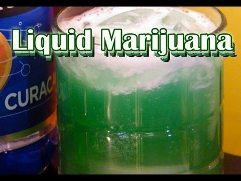 http://www.thefndc.com/liquid-marijuana-drink-recipe/ A green drink for 420 and beyond, the Liquid Marijuana cocktail combines rum, Midori, pineapple juice, blue curacao, and coconut rum. This is a light tasting cocktail, a bit on the tropical side, but put away a few of these and you'll be feeling good. After watching our Liquid Marijuana recip...