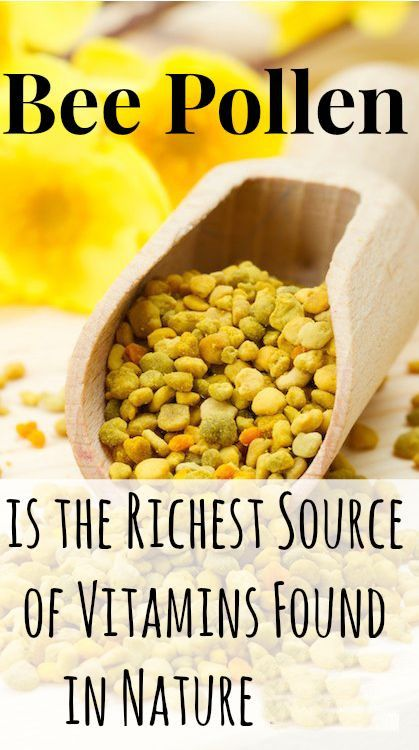 Bee Pollen is the richest source of vitamins found in nature.