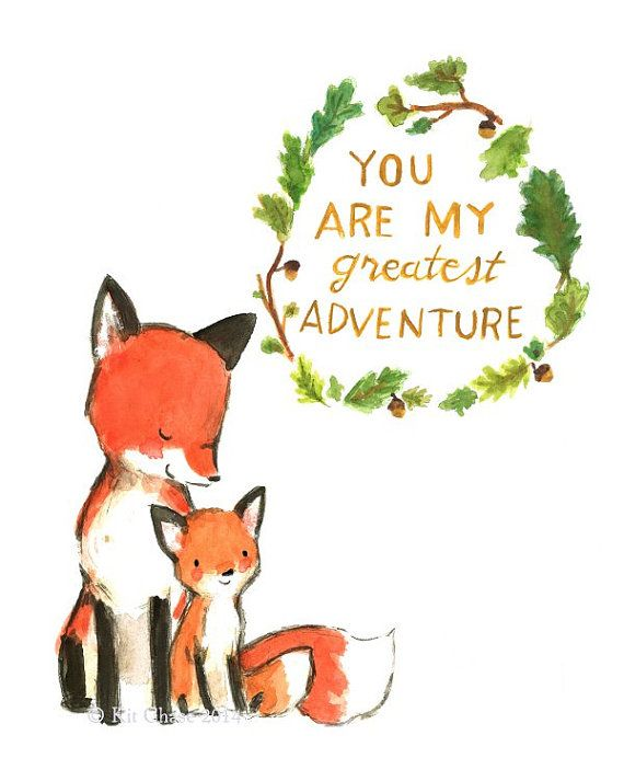 Nursery Art -- My Greatest Adventure FOX -- Art Print                                                                                                                                                                                 Mais