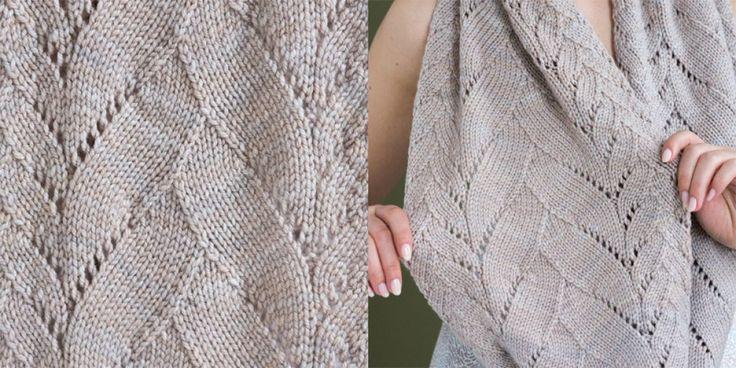 Шарф серый широкий Vogue Knitting Spring Summer 2017