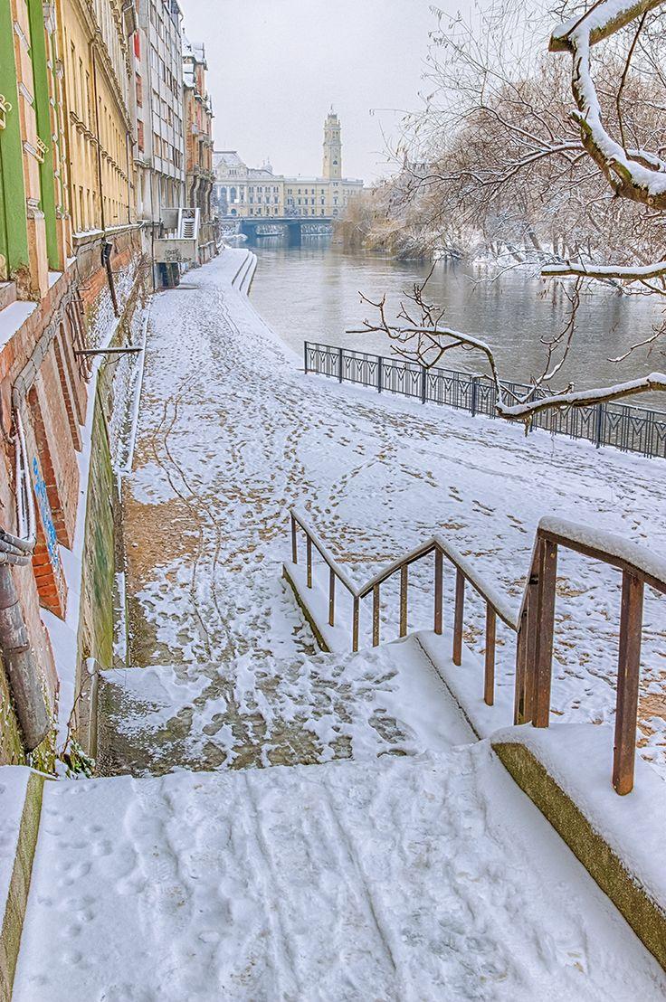 Promenada pe Crisul Repede, iarna   Oradea in imagini