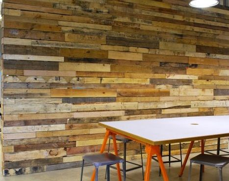 Salvaged Palette Wood Wall ~ So Beautiful!!! #LiquidGoldSalvagedWood