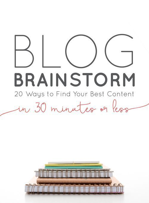 Blog Brainstorming: 20 Ways to Find Your Best Content in 30-Mins or Less