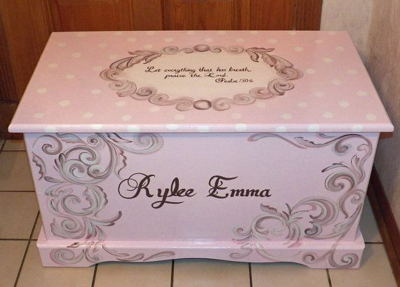 Custom Hope Chest or toy box with a verse by originalsbybarbmazur, $310.00