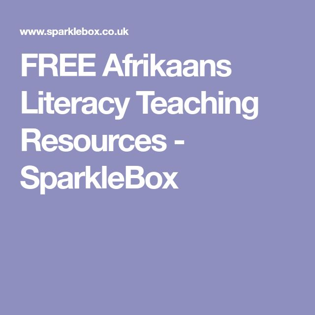 FREE Afrikaans Literacy Teaching Resources - SparkleBox