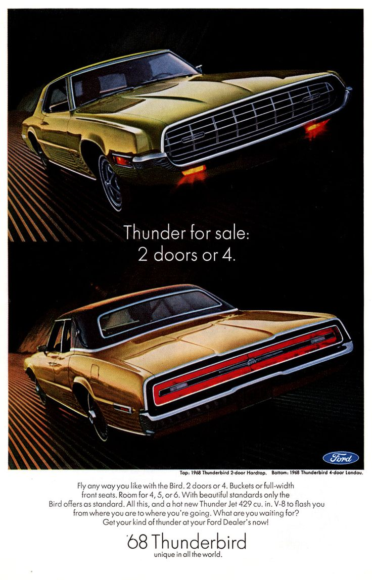1968 ford thunderbird ad