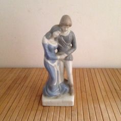 Used The Lovers Figurine Signed D