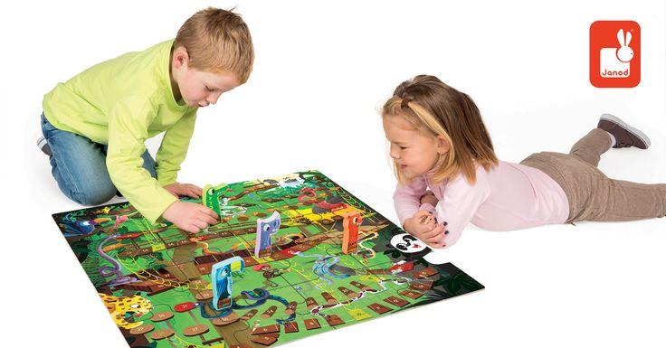 Kto prvý dostane svoj totem cez nebezpečnú džungľu plnú nástrah, vyhráva! Krásne detská spoločenská hra JANOD v angličtine Jungle Snake je vhodná pre deti od 3 rokov a pre 2 až 4 hráčov. http://goo.gl/iq8iBG