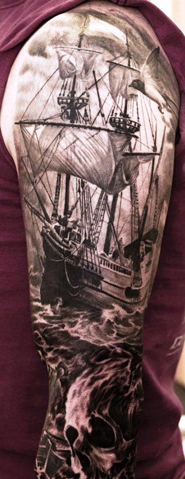 "Hello, Welcome to Instaloverz, Today we are here to talk about Ship Tattoo Designs. So those who are willing to get the inspiration about Ship Tattoo Designs, can just read this full article we had created for you. So checkout ""30 Dashing Ship Tattoo Designs And Ideas For You To Try"""
