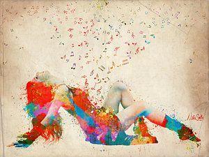 Sexy Digital Art - Sweet Jenny Bursting With Music by Nikki Smith