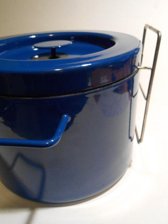 Danish Modern COPCO Michael Lax Deep Fryer Blue by MidCenturyFLA, $65.00
