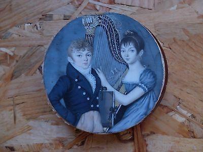 tableau miniature portrait de famille de ST DOMINGUE Hamelin Lormier Lagrave