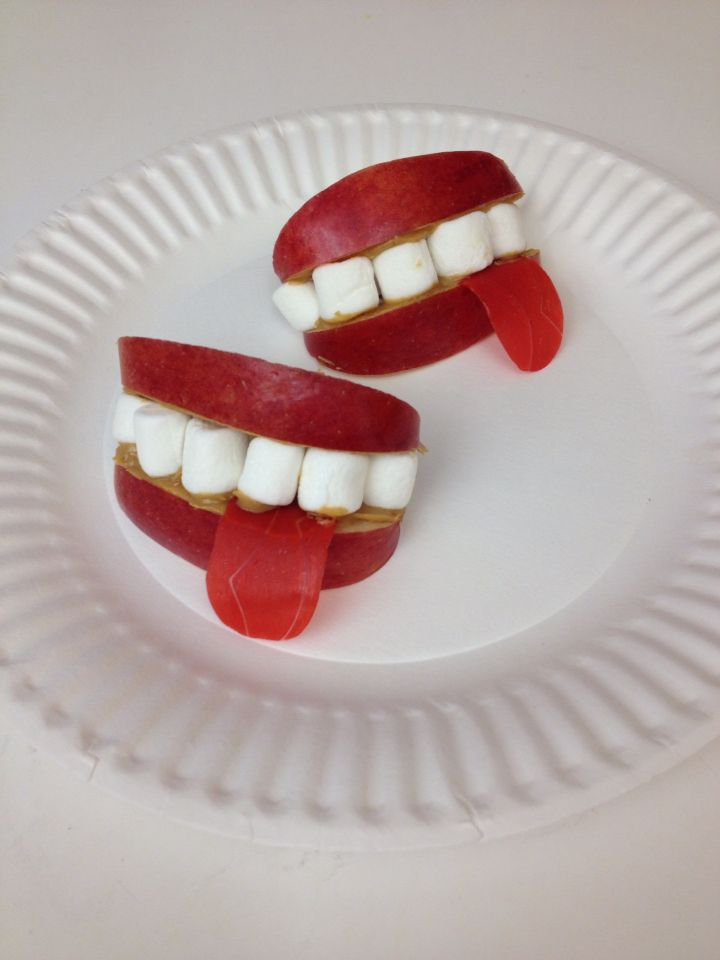 """Borrowing this idea already from a Pinterest pinner, I added a tongue (fruit roll up) because we are speaking on """"taming the tongue"""" in vacation bible school."""