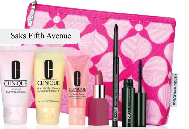 Saks.com is offering this Clinique gift - free when you spend $50 or more on Clinique and enter promo code CLINIQ97. http://clinique-bonus.com/other-us-stores/