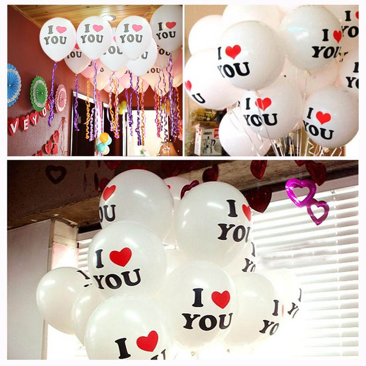 Свадебные украшения сада я тебя люблю воздушные шары на новый год рождество ну вечеринку 50 Pack сюрприз 12 дюймов белый воздушный шар латексакупить в магазине Moda HomeнаAliExpress