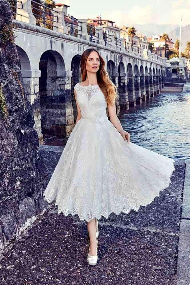 Exquisite Short Wedding Dresses For The Big Day Tea Length