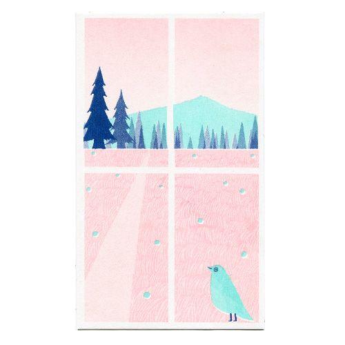 旅する窓「森へつづく道」 - レトロ印刷JAM オンラインお店