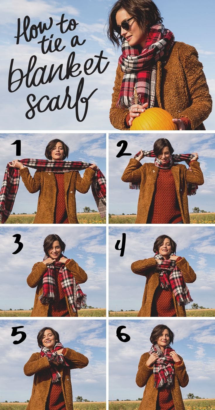 It's official—blanket scarves are on fall's must-have list. Also on fall's must-have list? The skills to tie your blanket scarf perfectly. Here's our favorite way. Featured product includes: Apt. 9 blanket scarf. Find your new fall faves at Kohl's.