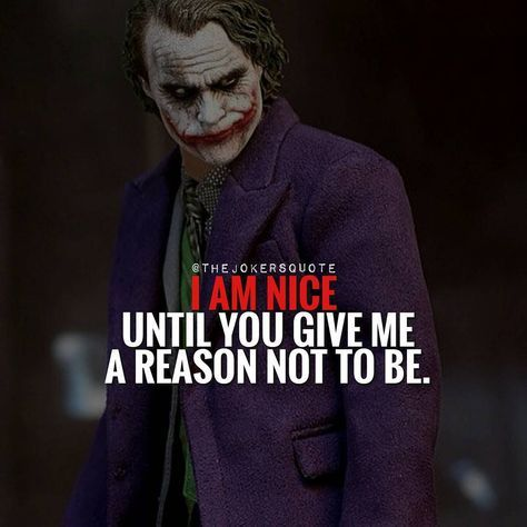 "818 Likes, 4 Comments - Joker Quotes (@thejokersquote) on Instagram: ""Must Follow @_Joker_Forever @TheJokersQuote @TheJokerSayings For Daily Motivation And Inspirational…"""