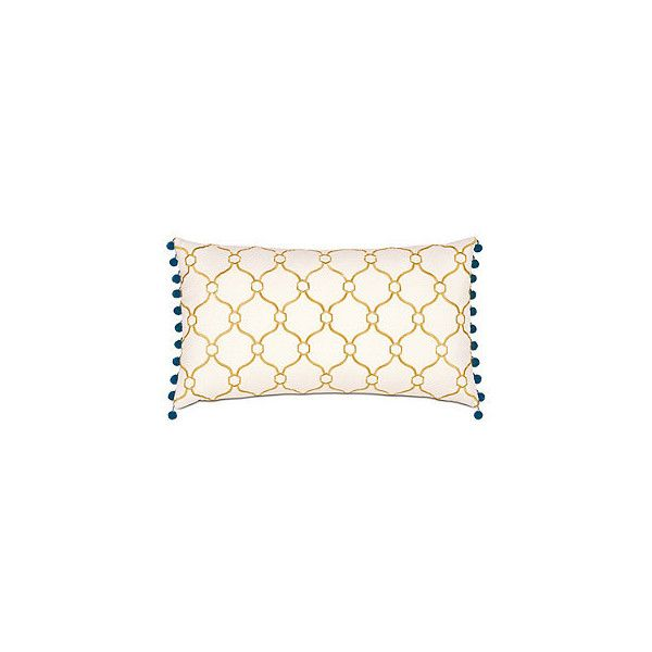 Emory Bolster Sham ($209) ❤ liked on Polyvore featuring home, bed & bath, bedding, bed accessories, cloud bedding, floral bedding, blue baby bedding, yellow bedding and yellow floral bedding