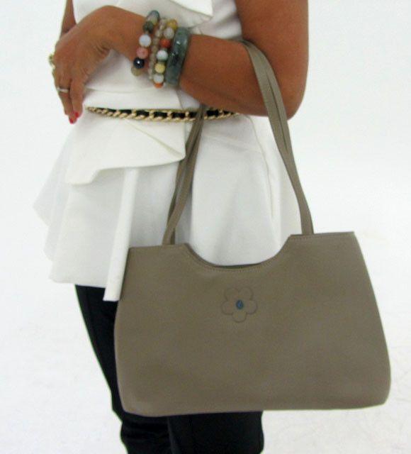 gemstone leather like grey shoulder bag op 45